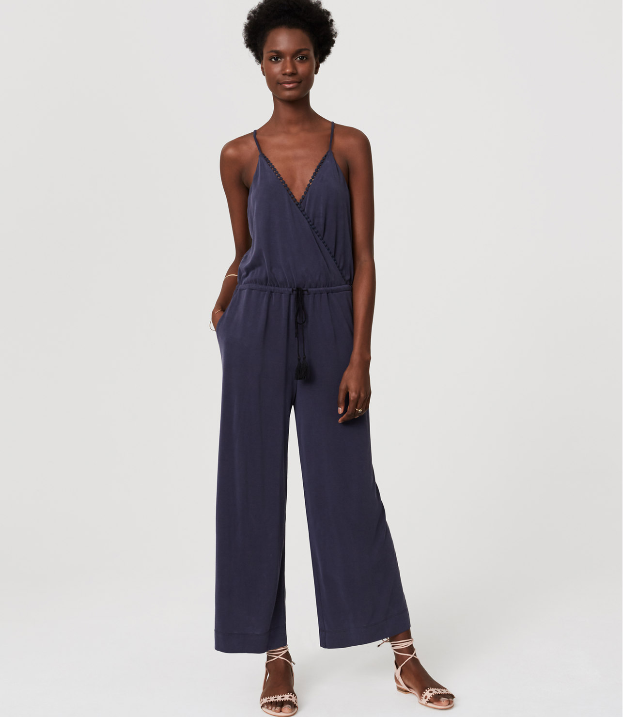 Beach Lacy Drawstring Jumpsuit, The Loft , $79.50