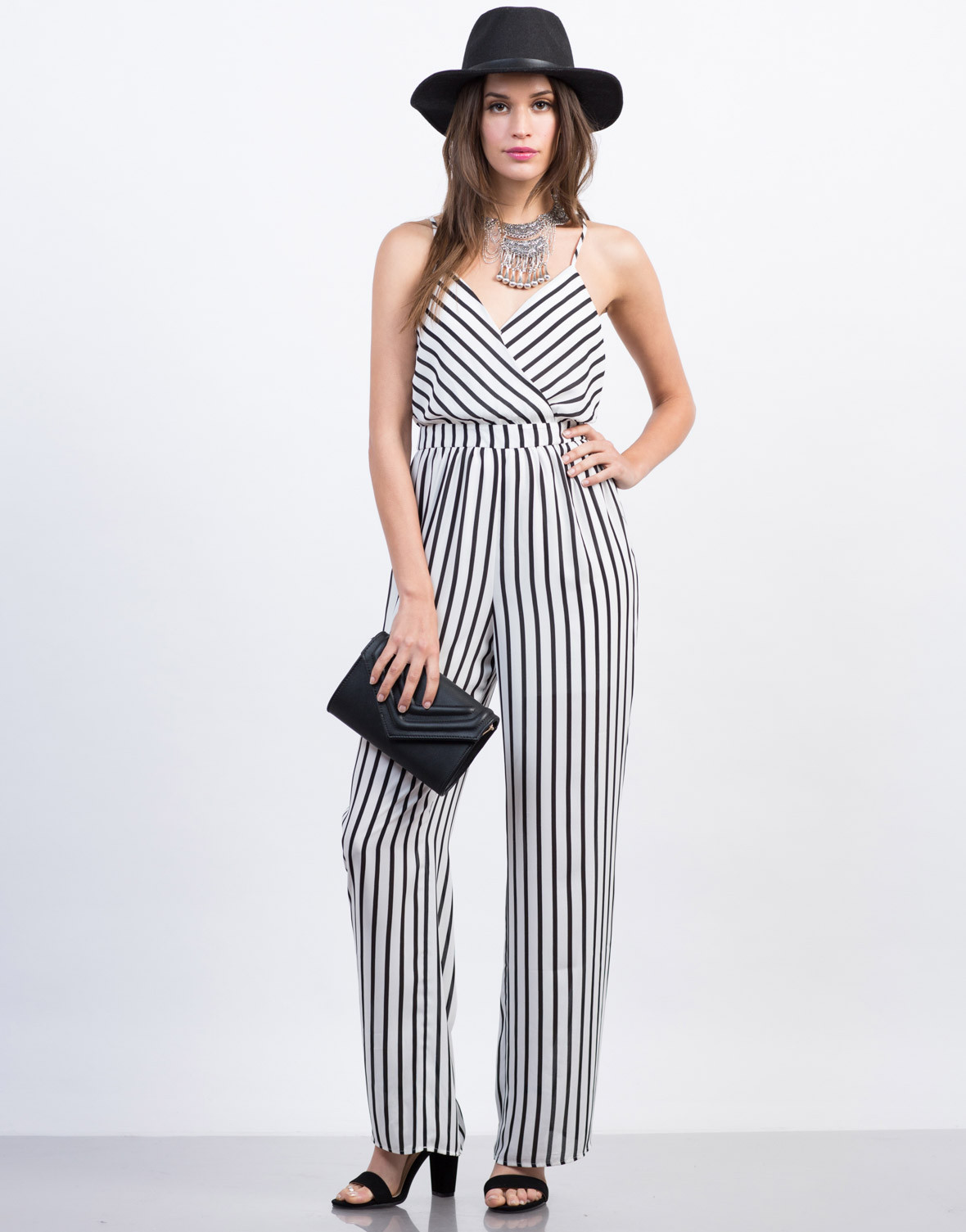 Strappy Striped Jumpsuit, 2020AVE, $13.99