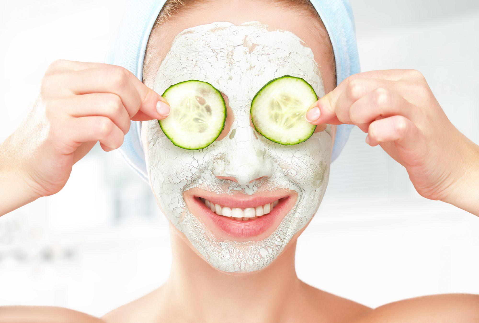 cucumber face mask natural beauty