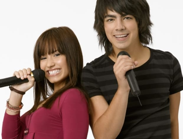 "Demi Lovato and Joe Jonas in ""Camp Rock"""