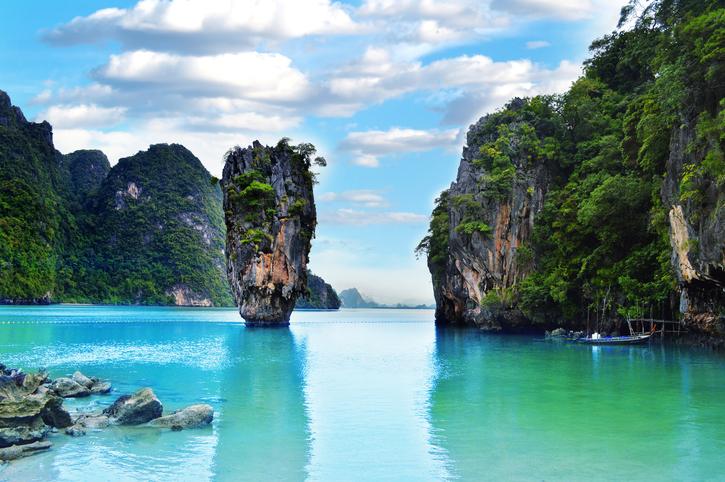 Ko Tapu rock on James Bond Island, Thailand
