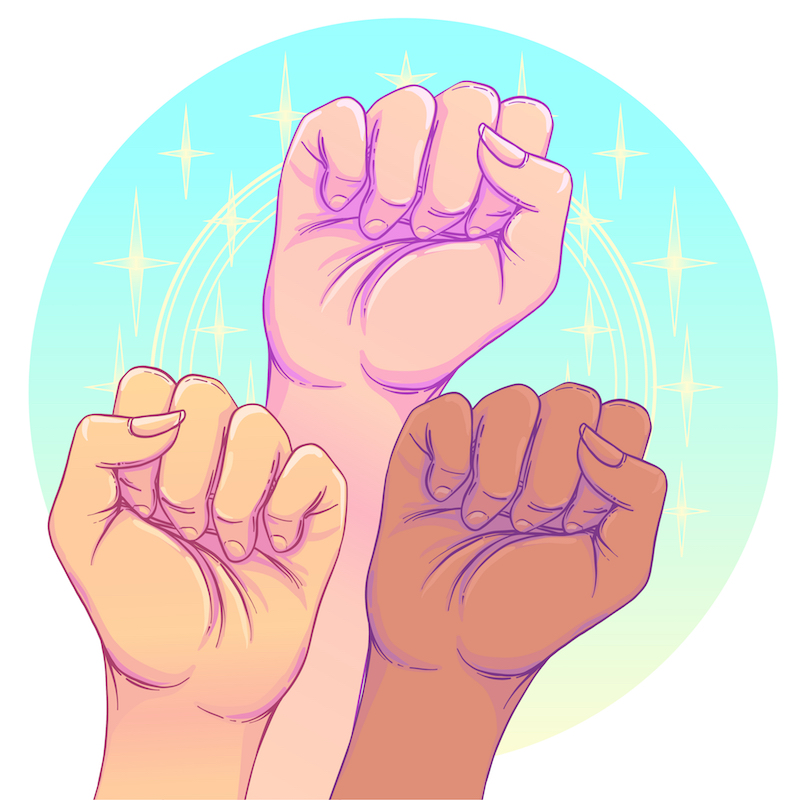 girl power fists