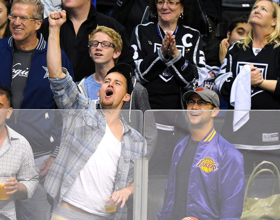 Celebrities At The LA Kings Game