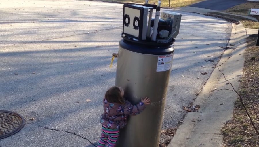 little girl meets robot