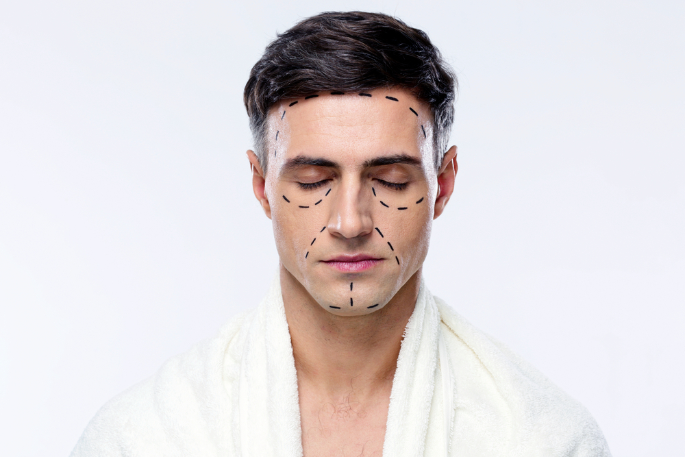 plastic surgery man face