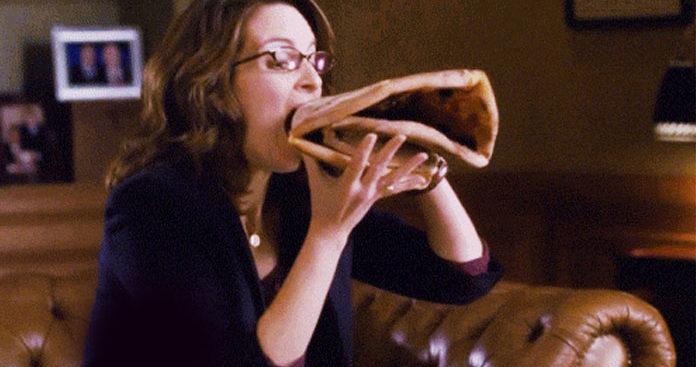 Binging pizza after Lent