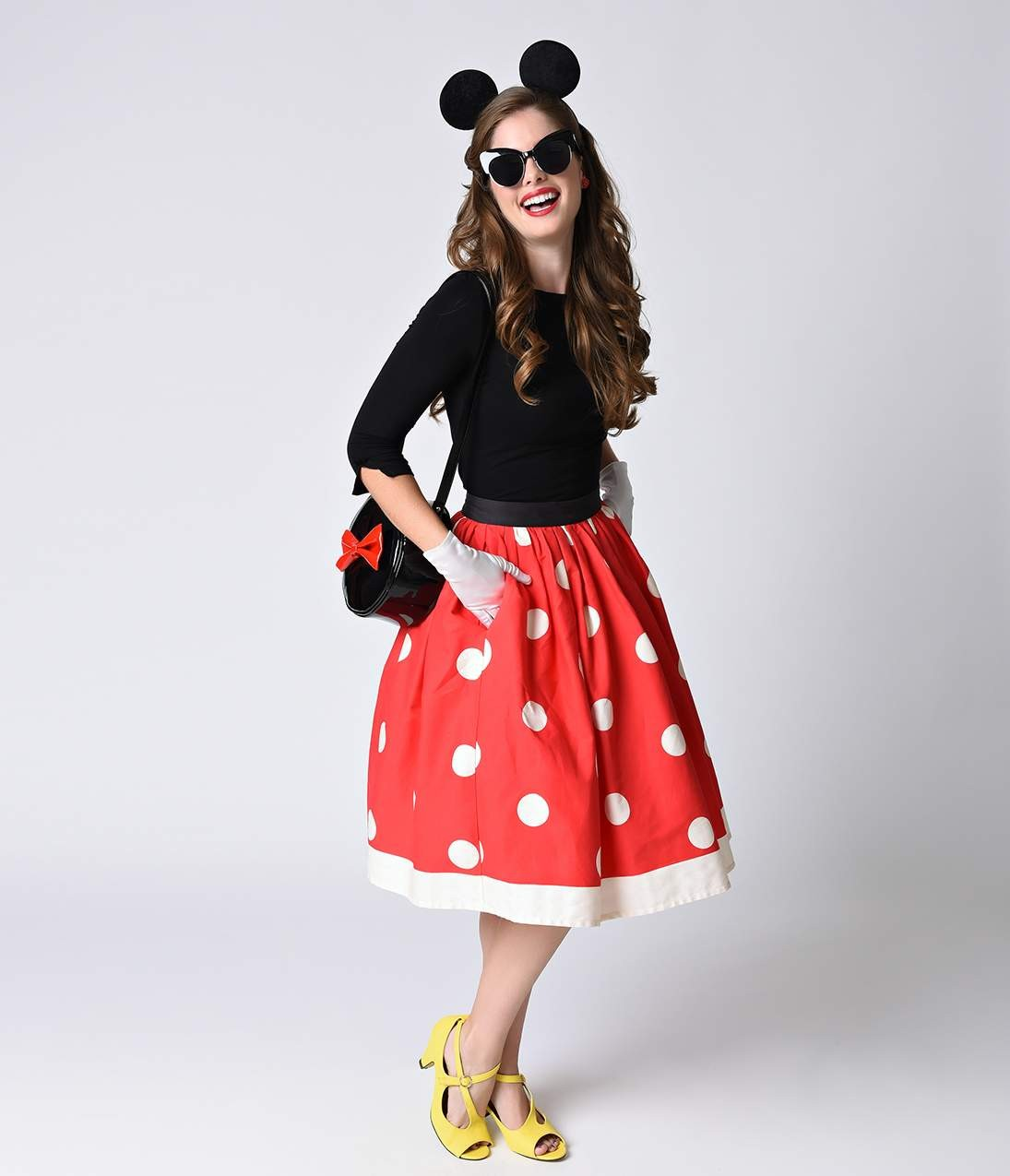 Unique_Vintage_1950s_Red_Ivory_Polka_Dot_High_Waist_Circle_Swing_Skirt_3.jpg