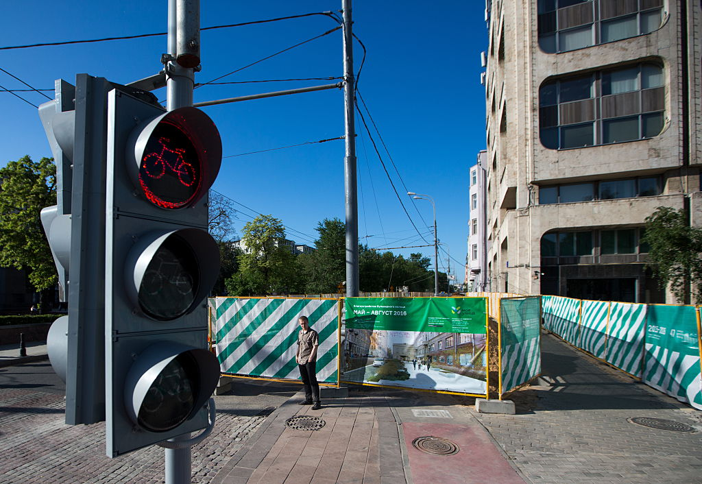 Pavement refurbishment in central Moscow
