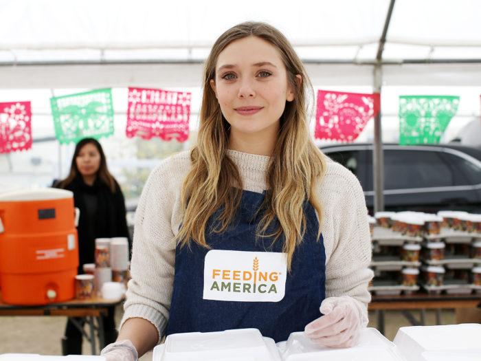 elizabeth olsen, feeding america