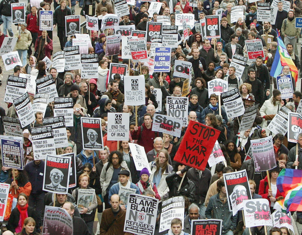 Thousands Protest Against War In Iraq