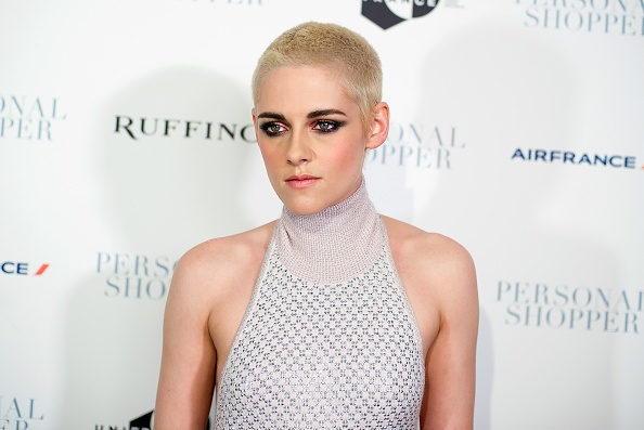 platinum blonde buzz cut kristen stewart