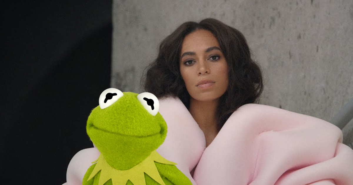 Solange Knowles and Kermit