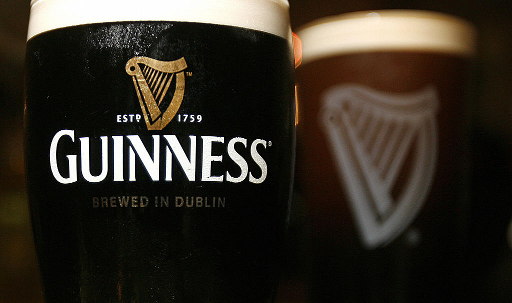 Pints of Guinness beer