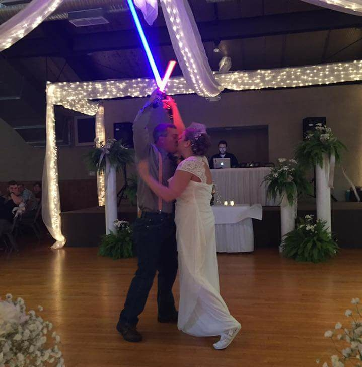 Wedding Lightsaber Battle