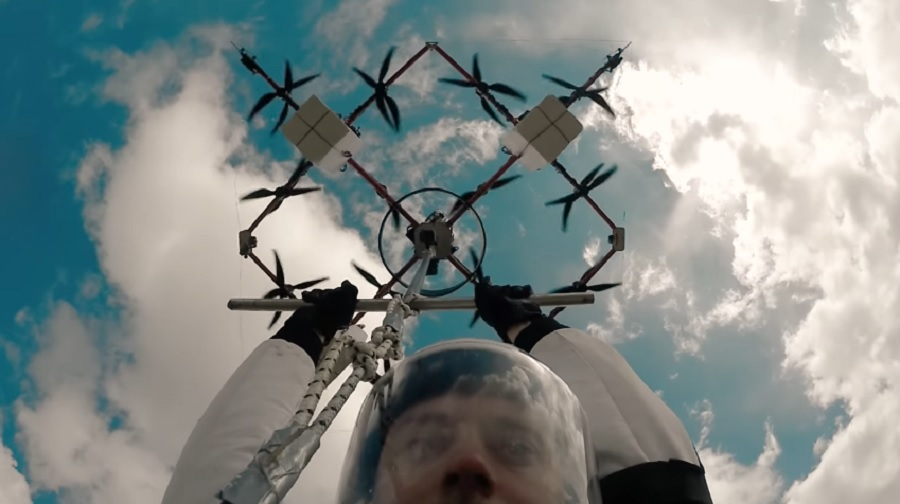 worlds first drone skydive