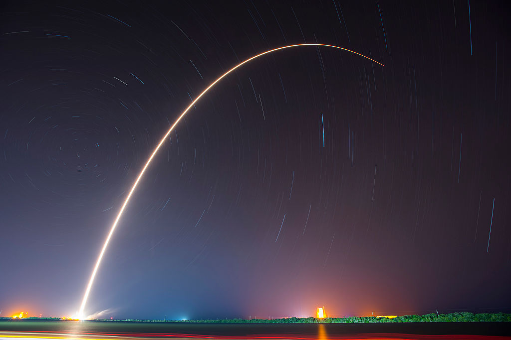 SpaceX rocket launches from cape canaveral, florida