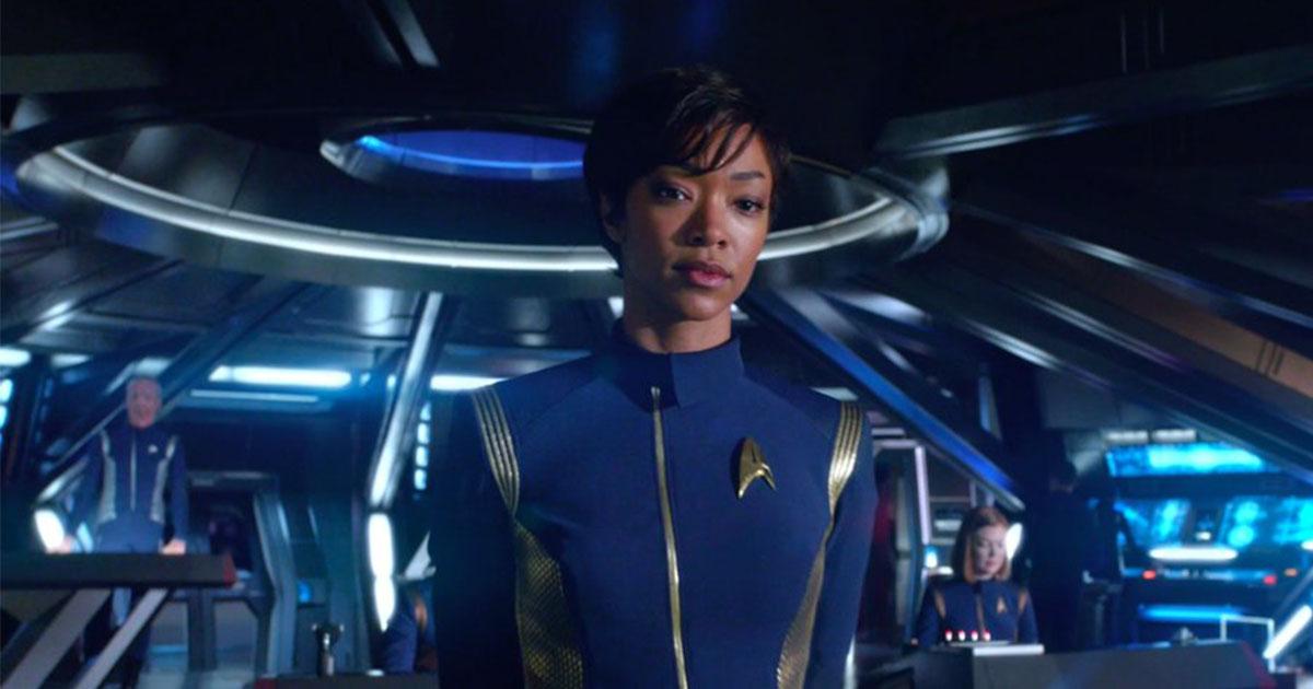 "First Officer Michael Burnham, played by Sonequa Martin-Green in ""Star Trek: Discover"""