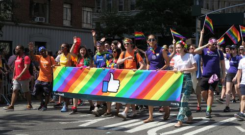 Facebook employees at LGBT pride parade
