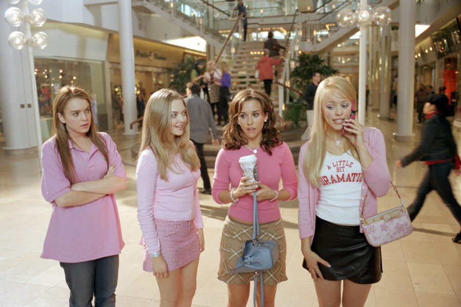 """""""Mean Girls"""" scene at the mall."""