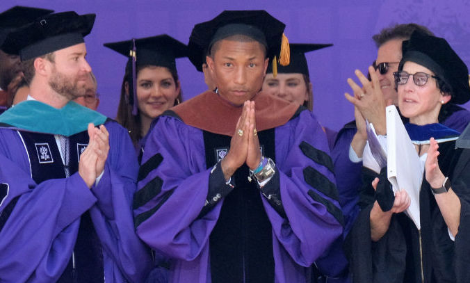 Pharrell Williams gives the commencement speech at NYU