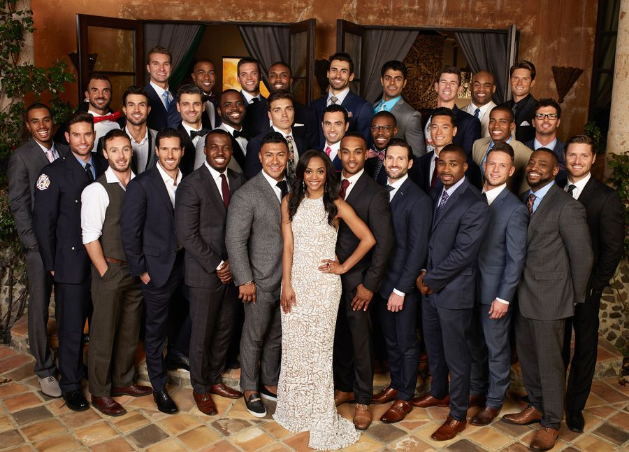 Bachelorette Rachel Lindsay and all her would-be husbands.