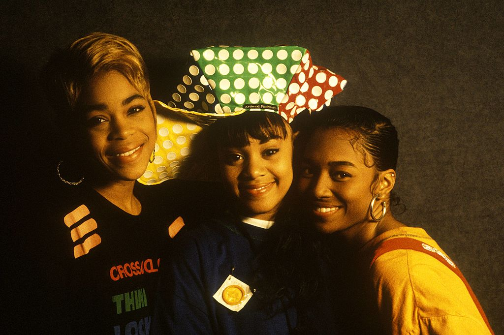 The group TLC poses in 1992.