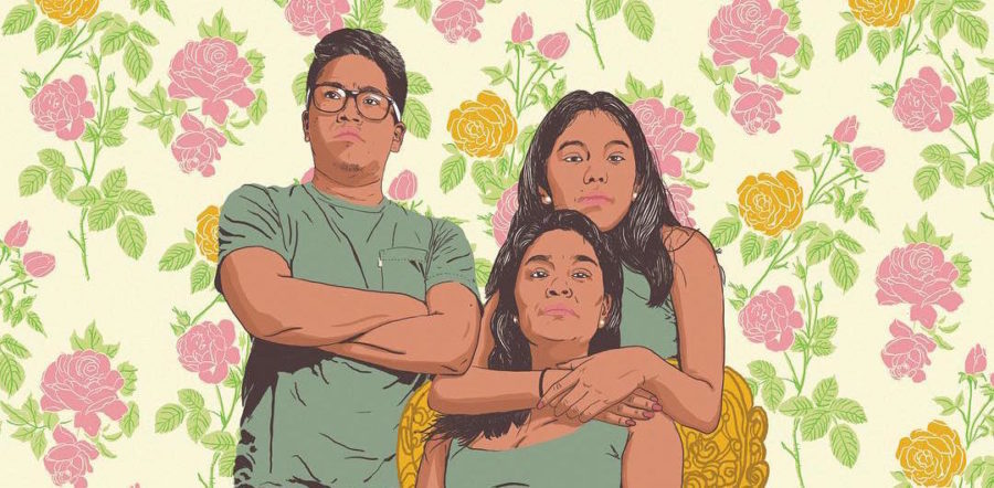 This mural is inspired by the strength of immigrant mothers