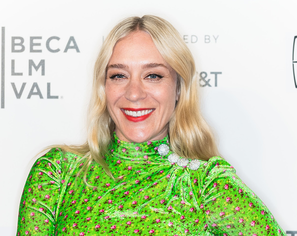 Chloe Sevigny in a green dress on the red carpet