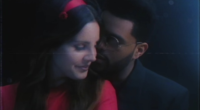 "Lana Del Rey and the Weeknd in the ""Lust for Life"" video."