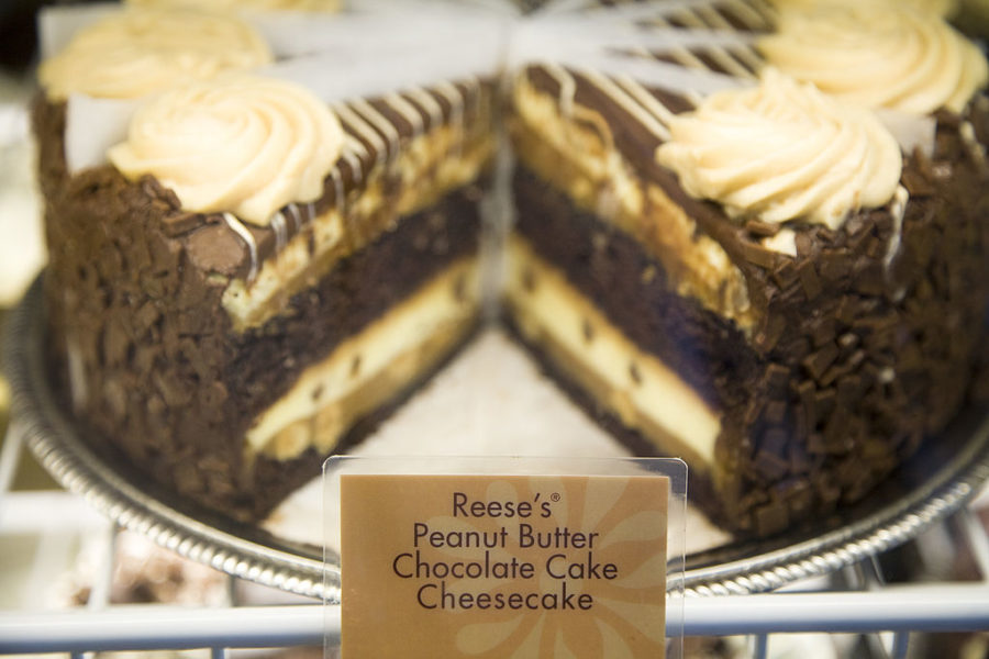 The Cheesecake Factory's newest addition, Reese's Peanut Butter Chocolate Cake Cheesecake, is revealed on National Cheesecake Day at The Cheesecake Factory on July 29, 2010 in Virginia Beach, Virginia.