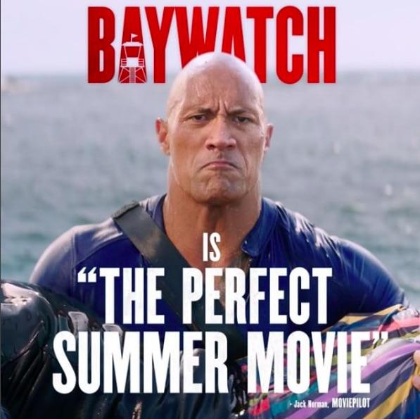 Dwayne Johnson in Baywatch, Instagram