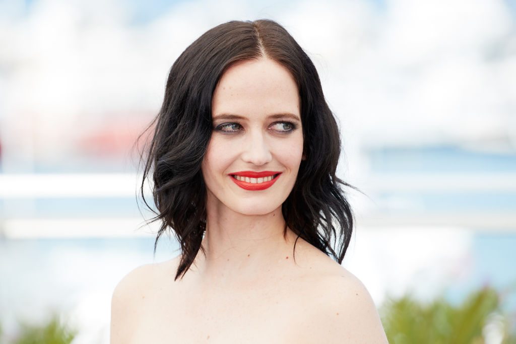 A close-up photo of actress Eva Green at a photocall at Cannes Film Festival.