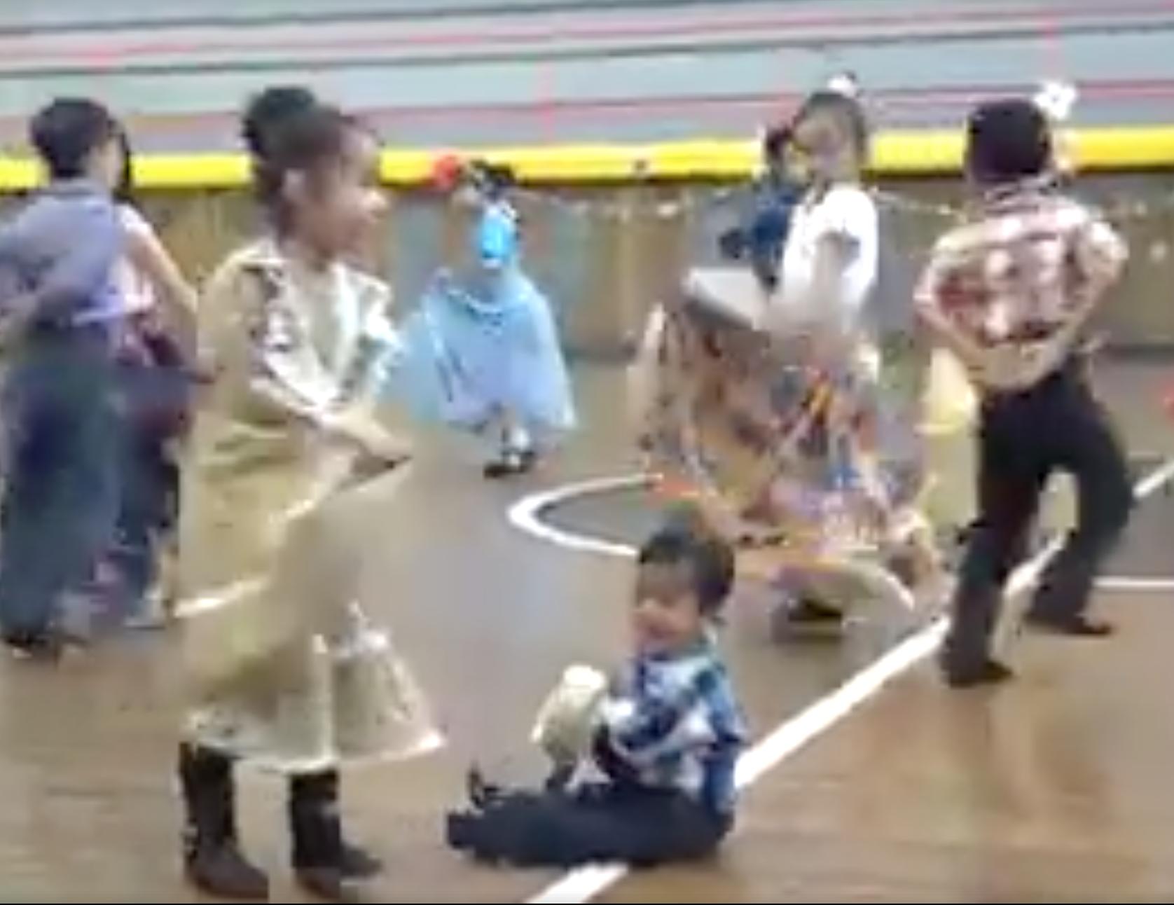 a little boy dancing