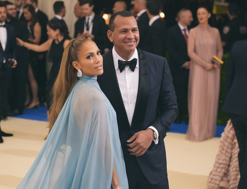 Jennifer Lopez and Alex Rodriquez at the MET gala.