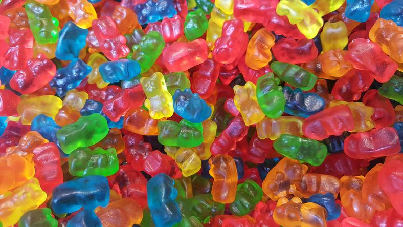 Full Frame Shot Of Multi Colored Gummi Bear Candies