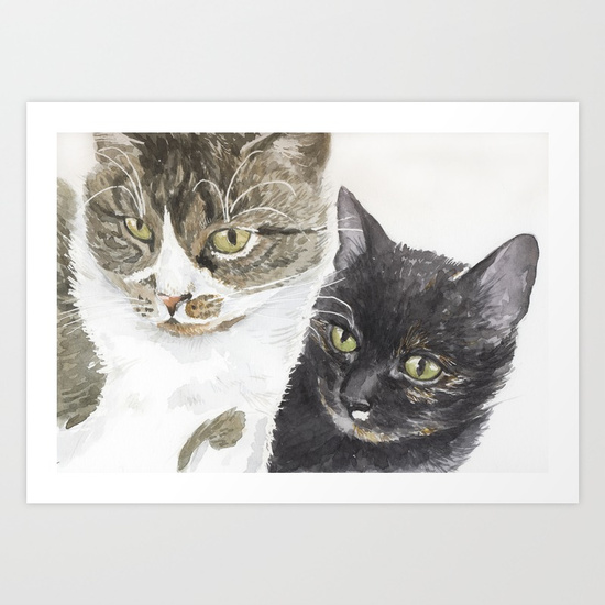 two-cats-tabby-and-tortie-prints.jpg