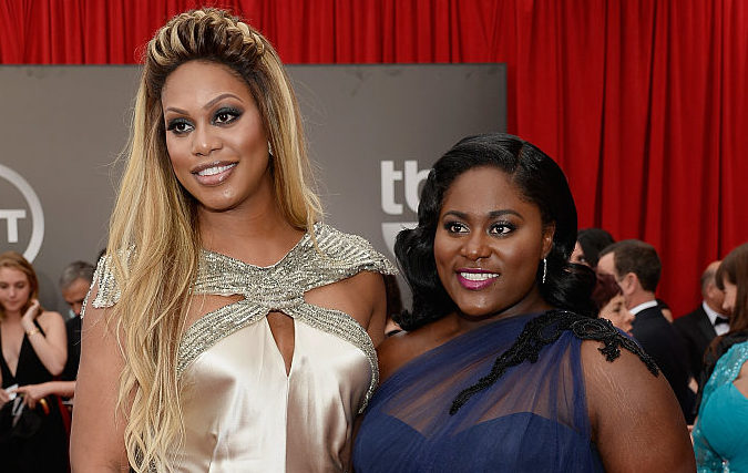 Laverne Cox and Danielle Brooks on the red carpet