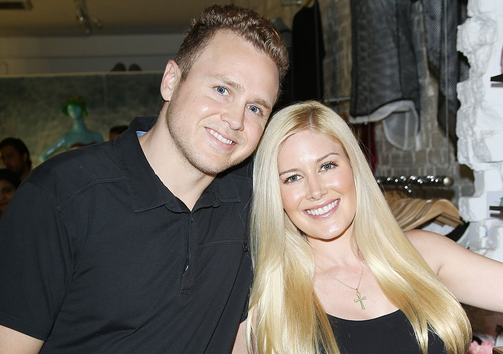 Spencer Pratt (L) and Heidi Montag attend the US launch of MeMe London held at DiLascia on July 28, 2015 in Los Angeles, California.