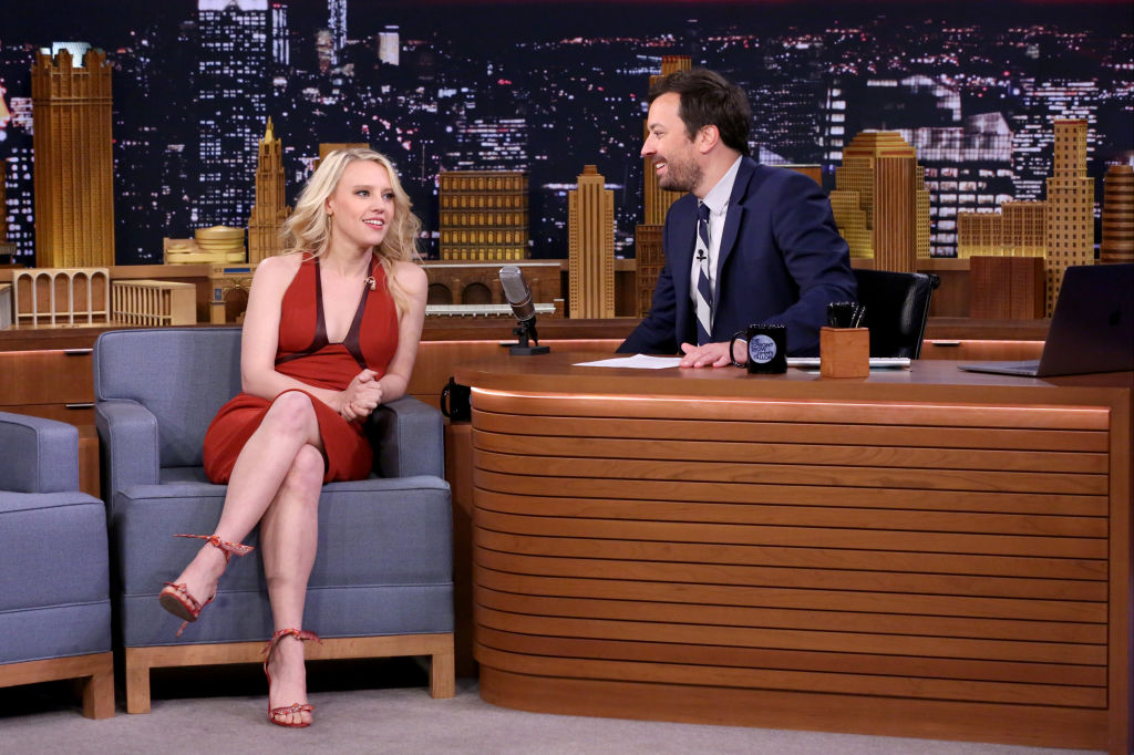 THE TONIGHT SHOW STARRING JIMMY FALLON -- Episode 0689 -- Pictured: (l-r) Actress Kate McKinnon during an interview with host Jimmy Fallon on June 9, 2017 -- (Photo by: Andrew Lipovsky/NBC/NBCU Photo Bank)