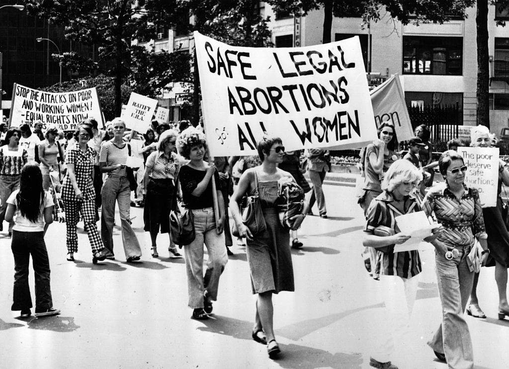 A pro-choice march in 1977
