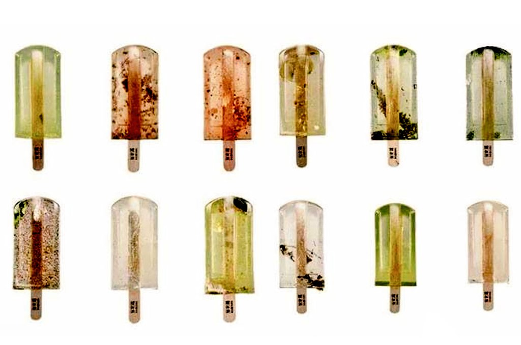 Popsicles made out of polluted water in Taiwan.