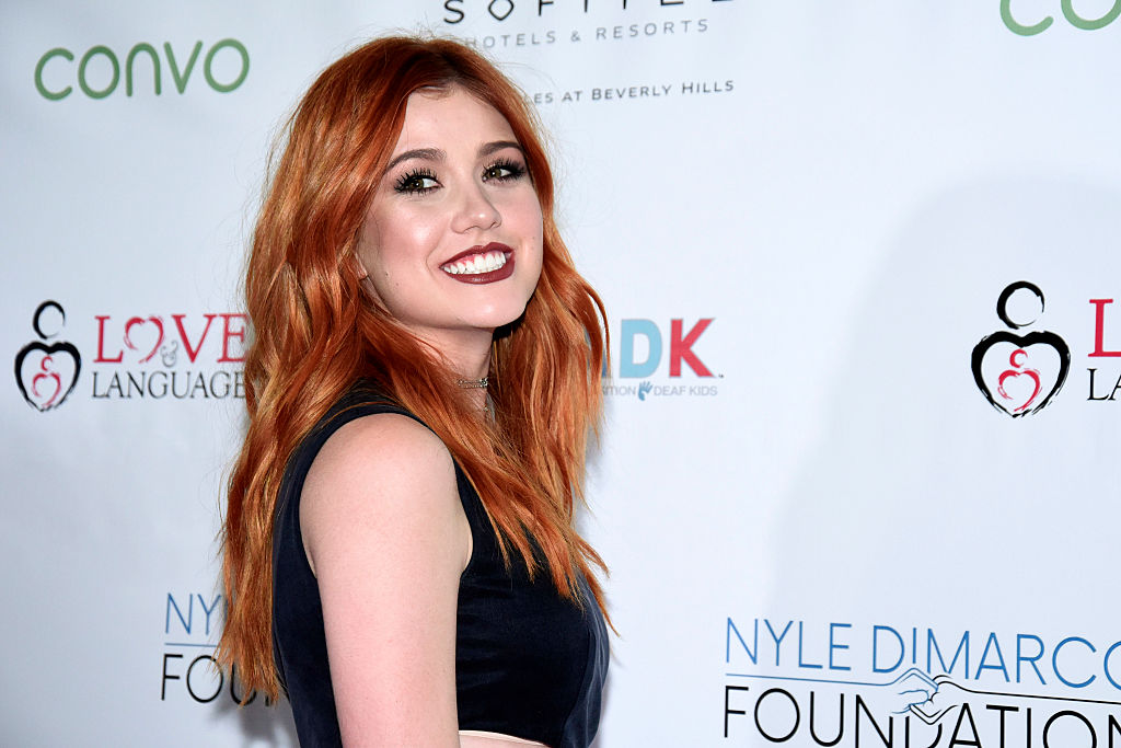 Katherine McNamara wears black on the red carpet
