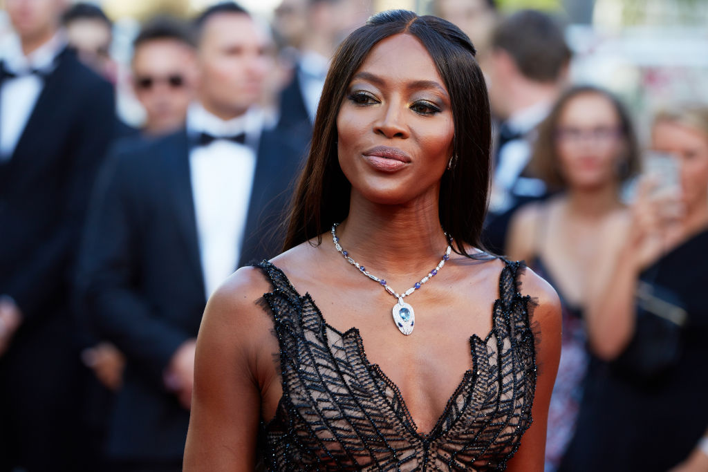 Naomi Campbell on the red carpet at Cannes Film Festival