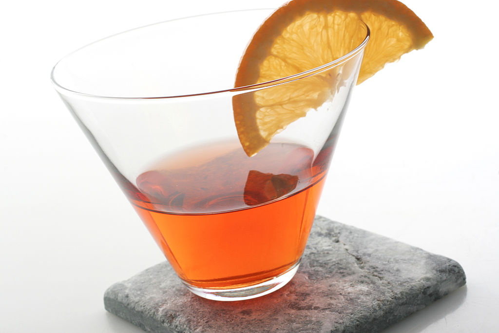 A Negroni cocktail