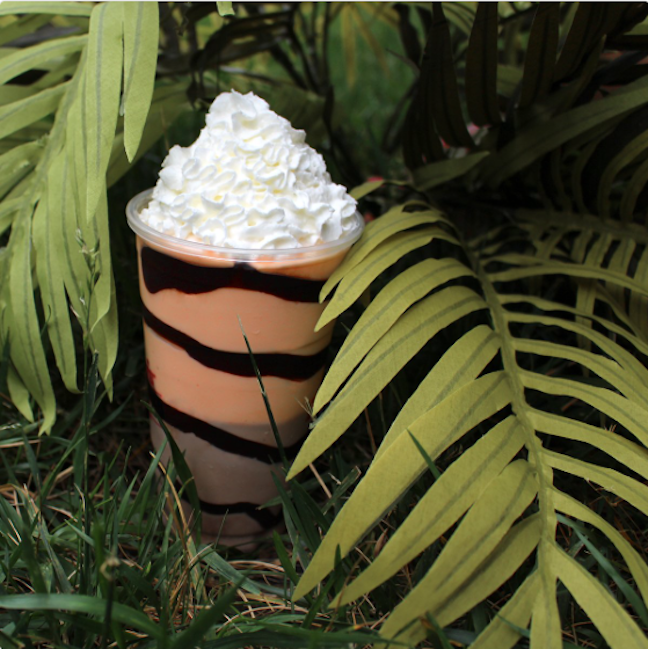Picture of orange and chocolate Liger Shake from Arby's