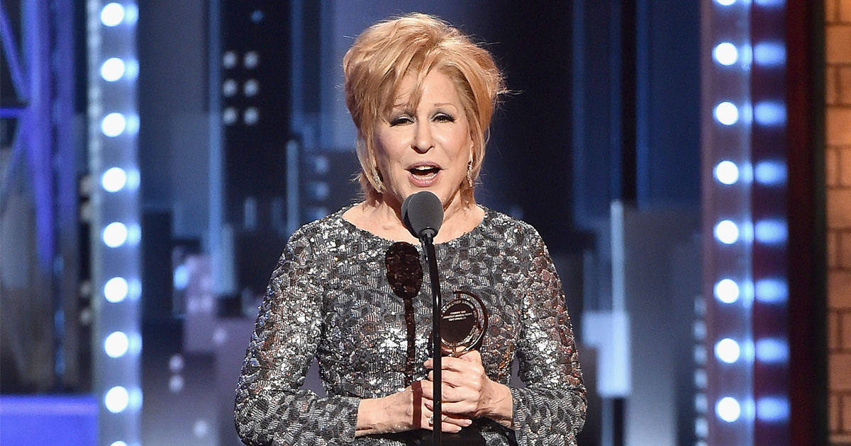 Bette Midler at the Tonys 2017