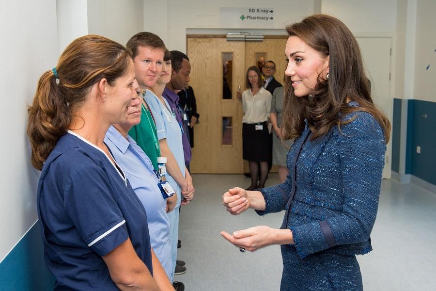 Princess Kate Middleton visits Kings College Hospital in London