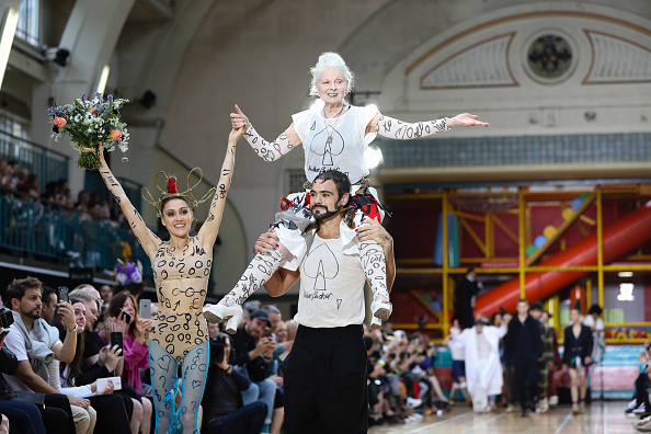Vivienne Westwood at her SS18 fashion show
