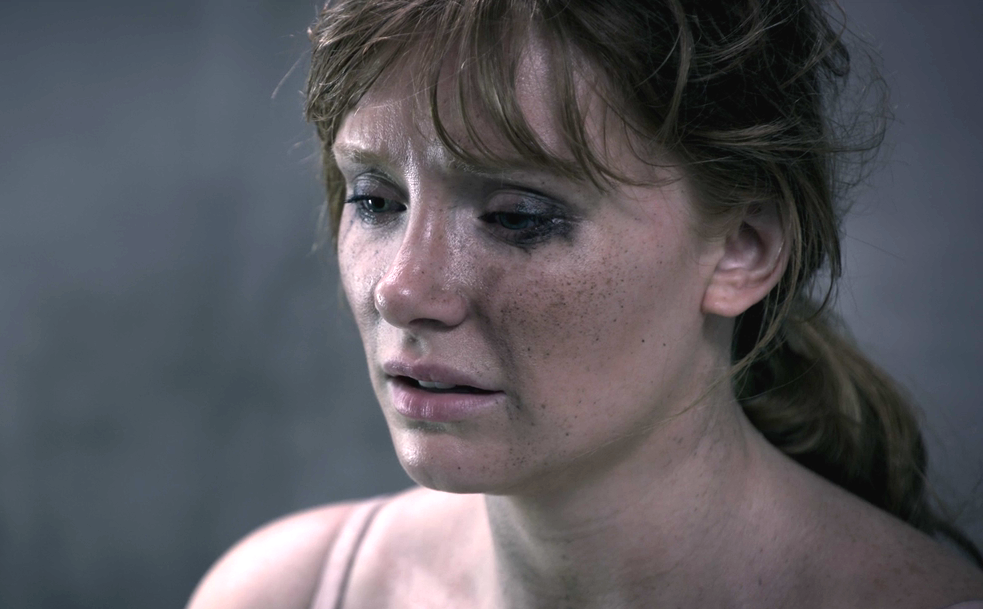 """Actress Bryce Dallas Howard looked scared in a scene from """"Black Mirror"""""""