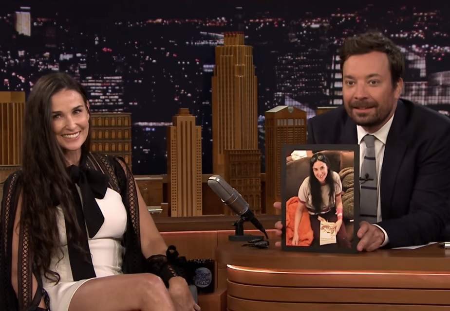 Demi Moore on The Tonight Show Starring Jimmy Fallon